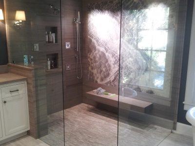 fancy shower corner unit
