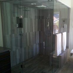 modern shower unit