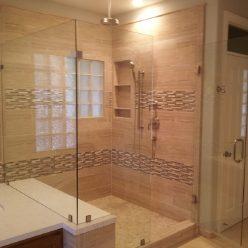 glass tilted shower