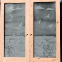 custom glass cabinets