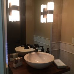 Mirror with Floating Sink