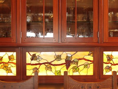 Stained Glass under cabinets