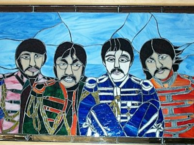the Beatles Stained Glass